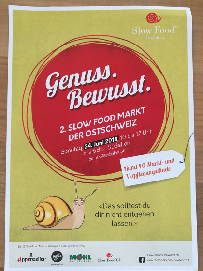 Slow-Food-Markt St. Gallen am 24. Juni 2018!